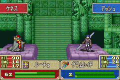 Fire Emblem - FE7if - Battle  - Hacked class. - User Screenshot